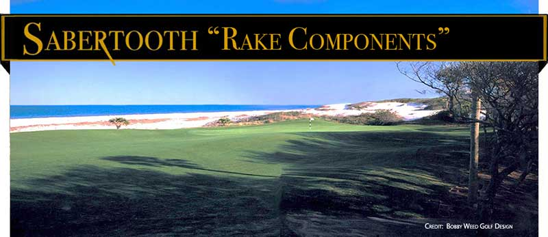 Sabertooth Golf: Bunker Rake Components