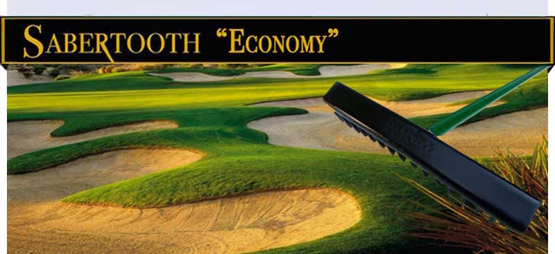 Sabertooth Golf's Economy Bunker Rake