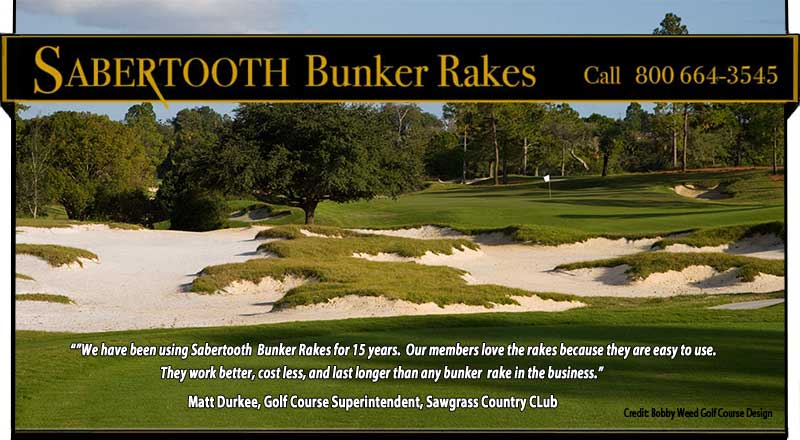 Sawgrass Country Club using Sabertooth Golf Bunker Rakes