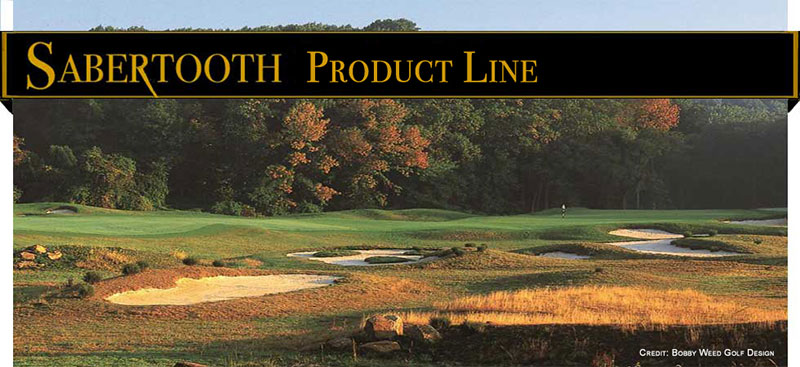 Sabertooth Golf Bunker Rakes: Product Line